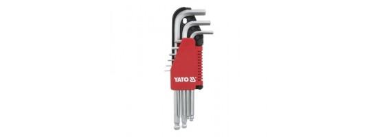 Zestaw kluczy imbu. RWTg 1,5-10 dł. YT-0506 YATO