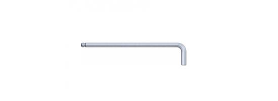 Klucz imbusowy 2,0x100x16 Hex wydł. z kulką S&R
