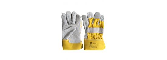 Rękawice robocza skóra+materiał ROB TEC