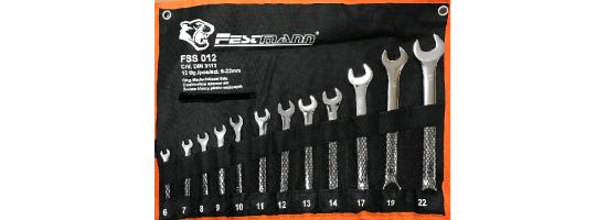 Zestaw kluczy płasko-oczkowych 6-22 FestMann 12 sztuk