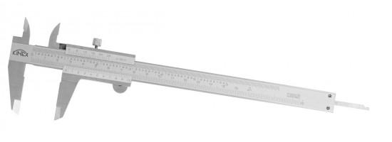 Suwmiarka czterofunkcyjna ze śrubą 160 mm, 0,02 mm, mm+inch, monoblok DIN 862
