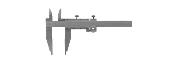 Suwmiarka dwustronna z suwakiem pomocniczym KINEX 1000 mm, 0,05 mm, 150 mm...