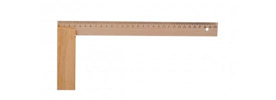 Kątownik drewniany stolarski - HOBBY 400/200
