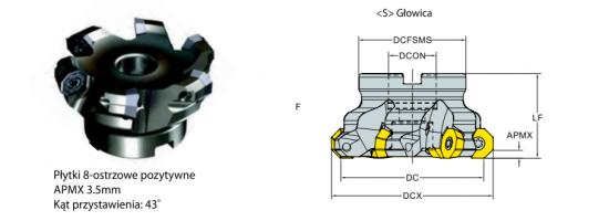 Głowica frezerska FI 100 F43-ODMT06-D100Z7S32 YG-1